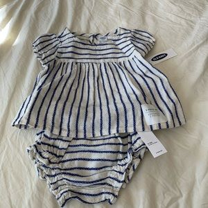 Old Navy Two Piece Linen Striped Set